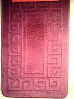 Набор ковриков для ванной комнаты малиновый производство Турция