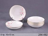 Набор салатников керамических Сакура 10см 6 шт Lefard 264-492