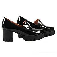 Модные женские туфли Gelsomino ( весенние, летние, осенние, на удобном каблуке, на платформе, черные, лаковые)