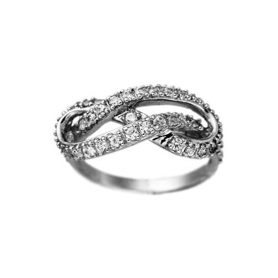 Кольцо  женское серебряное Бесконечность,Восьмерка 6821