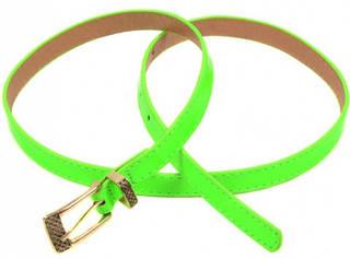 Завораживающий лаковый женский ремень искусственная кожа 1014 green