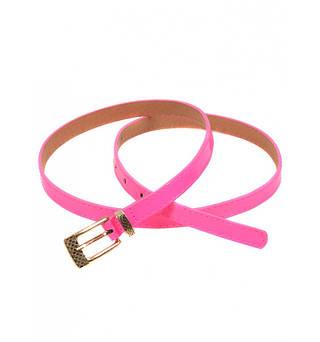 Модный лаковый женский ремень искусственная кожа 1014 pink