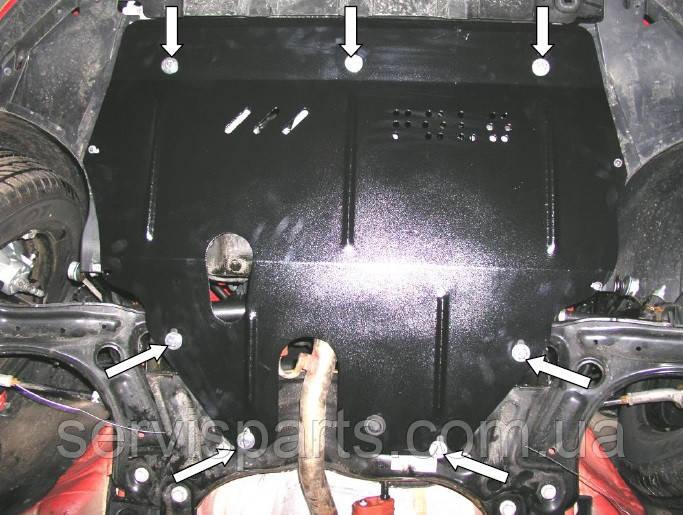 Защита двигателя Volkswagen Polo 2009- (Фольксваген Поло)