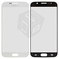 Защитное стекло корпуса для Samsung G920F Galaxy S6, белое, оригинал