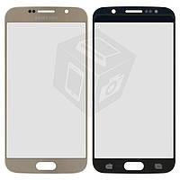 Защитное стекло корпуса для Samsung G920F Galaxy S6, золотистое, оригинал