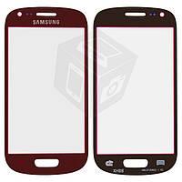 Защитное стекло корпуса для Samsung Galaxy S3 mini i8190, красное, оригинал