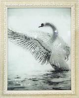 Картина из страз Лебедь