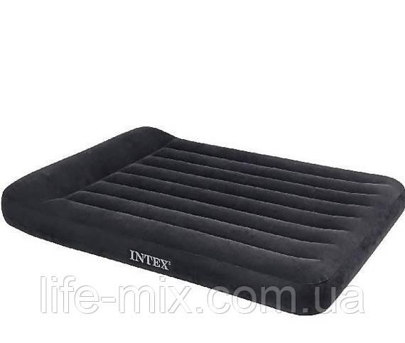 Полуторная надувная кровать с подголовником Intex 137х191х23 см.