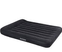 Полуторная надувная кровать с подголовником Intex 137х191х30 см.