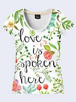Футболка Love is spoken here