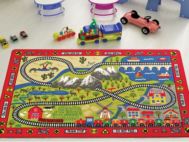 Коврик в детскую комнату Confetti Railway 133*190 см