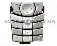 Клавиатура для Nokia 6610 серебряный