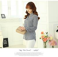 Блузка в черно-белую полоску, фото 1
