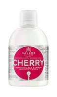 Шампунь для волос Kallos Cherry Shampoo с маслом вишневых косточек.