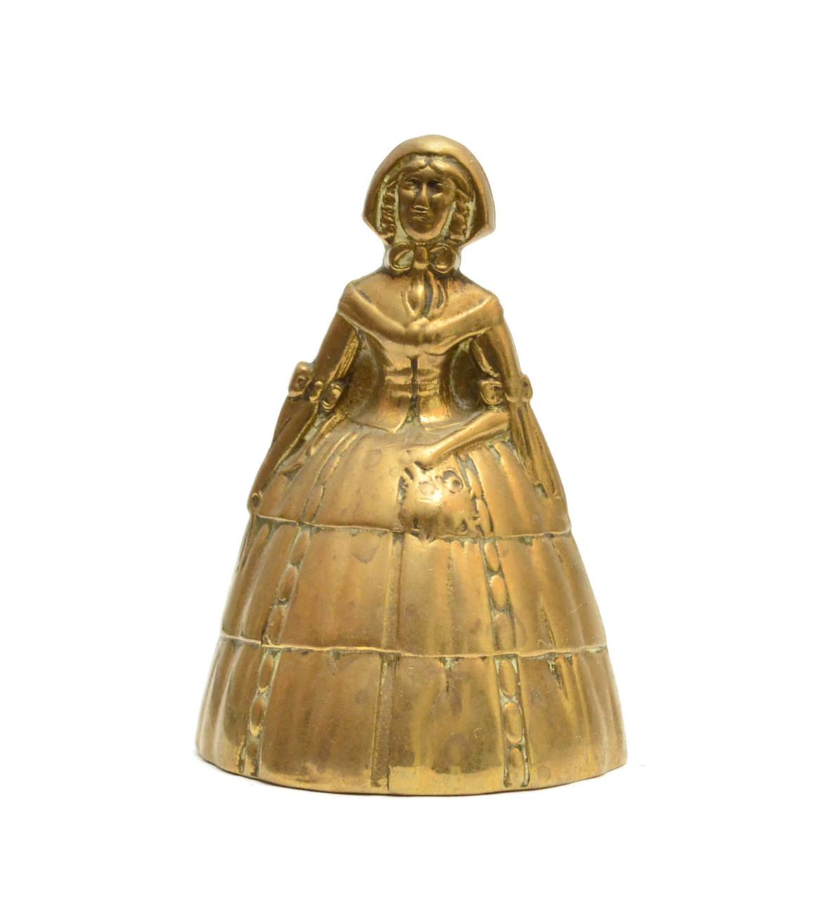 """Колокольчик, бронза, """"Девушка в Капоре"""", Англия"""