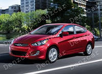 Ветровик HYUNDAI Accent/Solaris Sd 2011 (на скотче) MugenStyle ShS