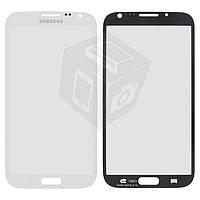 Защитное стекло корпуса для Samsung Galaxy Note 2 N7100, 2.5D, белое, оригинал