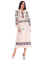 Платье женское  льняное бежевое