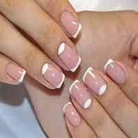 Покрытие натуральных ногтей гель-лак Френч-дизайн
