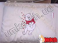 """Детское постельное белье """"Bonna"""" Вышивка Бежевый Винни-Пух,9 предметов"""