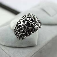 Кольцо мужское Лилия (сталь)