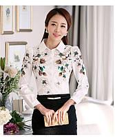 Шифоновая блузка цветочный принт, фото 1