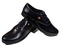 Туфли женские комфорт натуральная кожа черные на шнуровке (Т 03), фото 1