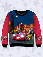 """Детский свитшот Cars """"Тачки"""" с ярким 3D принтом для мальчиков из качественного трикотажа от 1 года до 12 лет."""