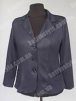 Пиджак женский больших размеров с отложным воротником