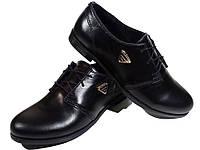 Туфли женские комфорт натуральная кожа черные на шнуровке (Т 09 чк)
