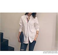 Стильная рубашка воротник стоичка, фото 1