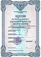Компания с лицензией на перевод денежных средств без открытия расчетного счета
