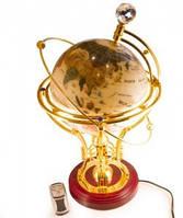 Светильник Глобус Земной Шар, натуральные камни