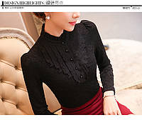 Красивая кружевная блузка, 2 цвета, фото 1