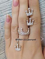 Набор Короны с камнями серебро 925, фото 1