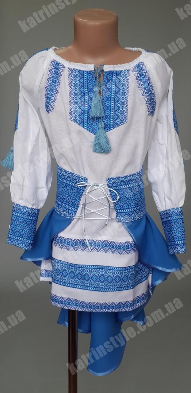 Нарядный вышитый костюм для девочек
