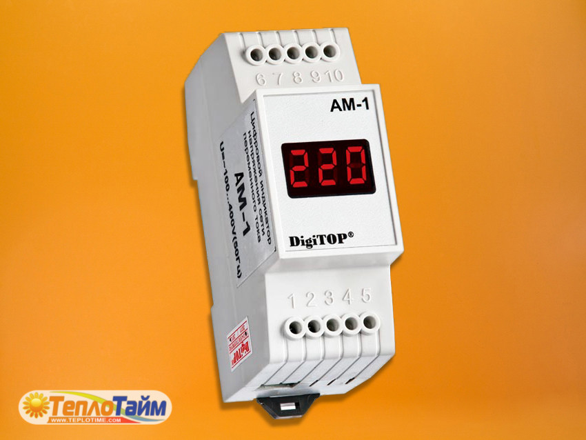 Амперметр DigiTOP 1ф Am-1 для DIN рейки