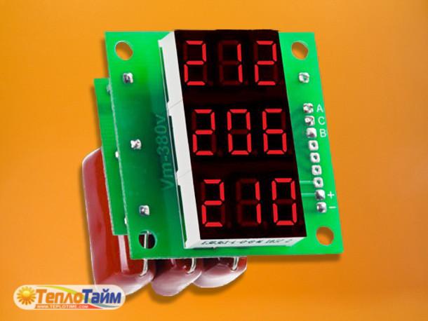 Вольтметр діючого значення напруги 3ф DigiTOP Вм-14, (вольтметр действующего значения напряжения)