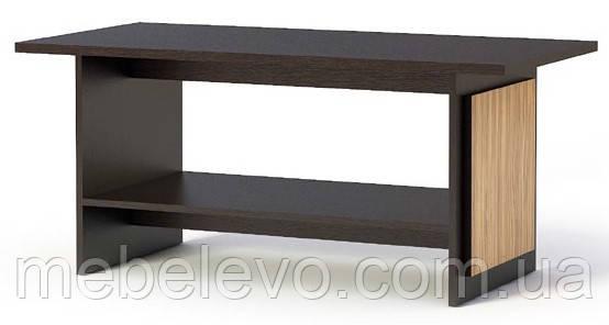 Стол журнальный  Каспиан 530х1190х592мм венге темный + зебрано   Мебель-Сервис, фото 2