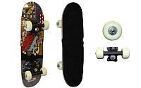 Мини скейтборд (роликовая доска) SK-2006AA (колесо-PVC, р-р деки 51х15см, 608Z,пластиковая подвеска)
