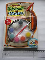 """Краски акриловые 7 цветов по 5 мл, """"Ceramic and Glass"""""""