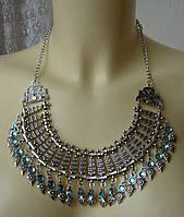 Ожерелье женское колье модное массивное металл ювелирная бижутерия 5982