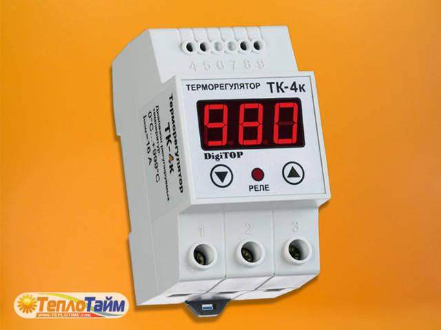 Одноканальний циф.терморегулятор DigiTOP ТК-4к з датчиком DS18B20, (одноканальный циф. терморегулятор)