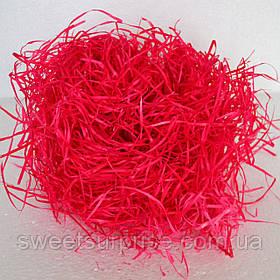 Деревна стружка для декору (червоний)