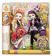 Ever After High Raven Queen and Apple White School Spirit Рейвен Куин и Эппл Уайт школьный дух
