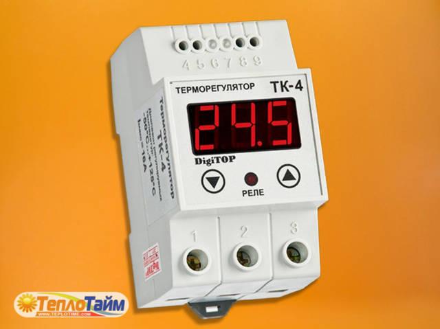 Одноканальний циф.терморегулятор DigiTOP ТК-4н з датчиком DS18B20, (одноканальный циф. терморегулятор)