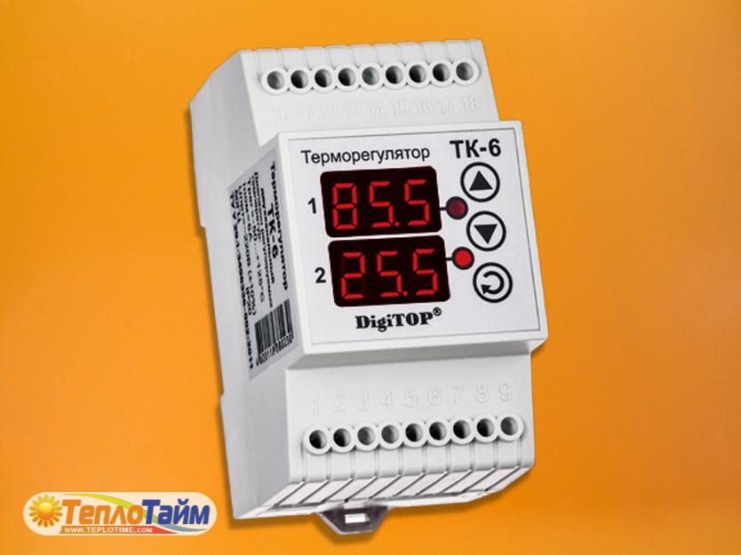 Одноканальний циф.терморегулятор DigiTOP ТК-6 з датчиком DS18B20
