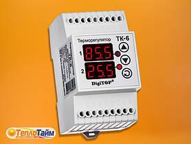 Одноканальний циф.терморегулятор DigiTOP ТК-6 з датчиком DS18B20, (одноканальний циф. терморегулятор)
