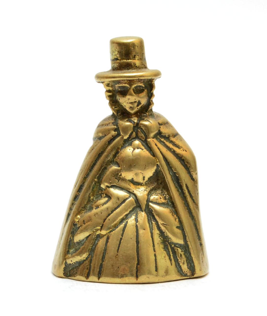 """Колокольчик """"Дама в валлийском костюме"""", бронза, Англия"""