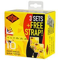 Струны Rotosound R10 Roto Yellows 10-46 3D-Pack + Strap